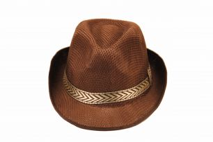 Шляпа гангстера коричневая