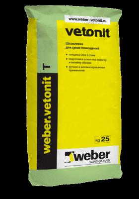 Weber Vetonit Т шпатлевка на органическом связующем (25 кг)