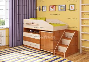 Кровать-чердак Легенда-12.2 со столом
