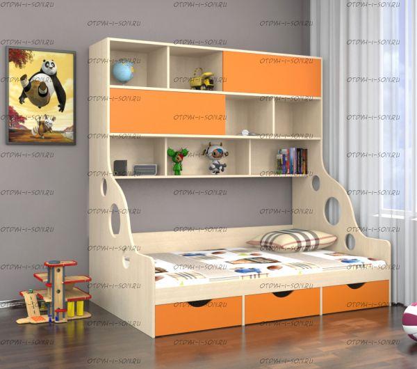 Кровать с антресолью Дельта 21.02 (120х190)