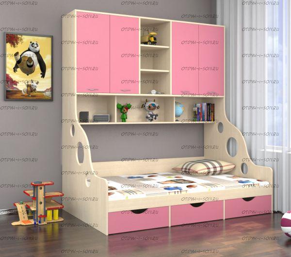 Кровать с антресолью Дельта 21.01 (120х190)