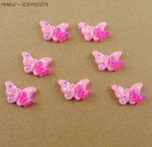 Бабочка розовая двойная