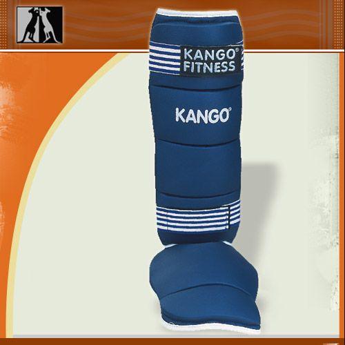 Защита голень-стопа синяя, иск. кожа, размер XL, артикул 8904, KANGO
