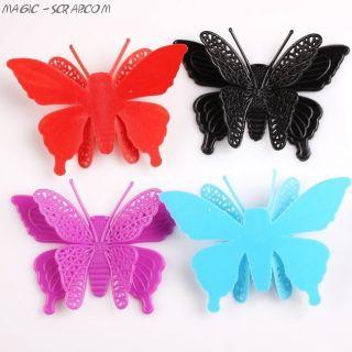 Бабочки двойные большие из пластика