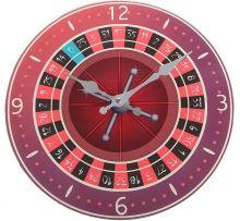 """Часы настенные стеклянные """"Рулетка казино"""""""