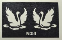 Трафареты для боди-арта, био-тату  N24