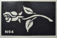 Трафареты для боди-арта, био-тату  N04