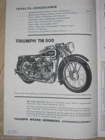 Каталог запчастей Triumph TM500
