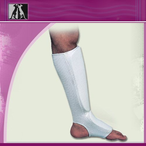 Защита ноги эластичная, белая, полиэстер, размер senior, артикул 14014, KANGO