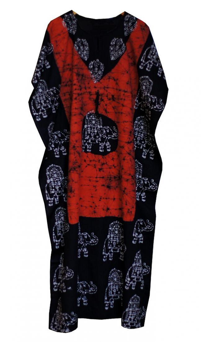 Безразмерное индийское платье на кулиске, хлопок (отправка из Индии)
