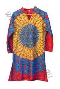 Длинная женская индийская рубашка (курта) Мандала