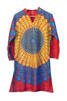 Женская длинная индийская рубашка (курта) Мандала