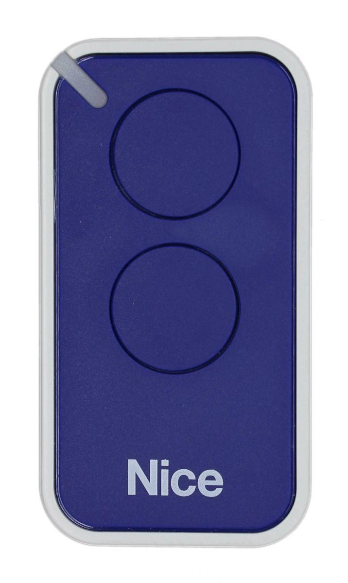 Пульт Nice INTI2B, динамический код, синего цвета.