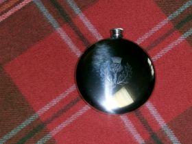 Фляга из олова (британский пьютер)- Цветок Чертополоха 180 мл -Символ Шотландии