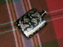 Фляга из олова (британский пьютер)- Цветы Пэйсли
