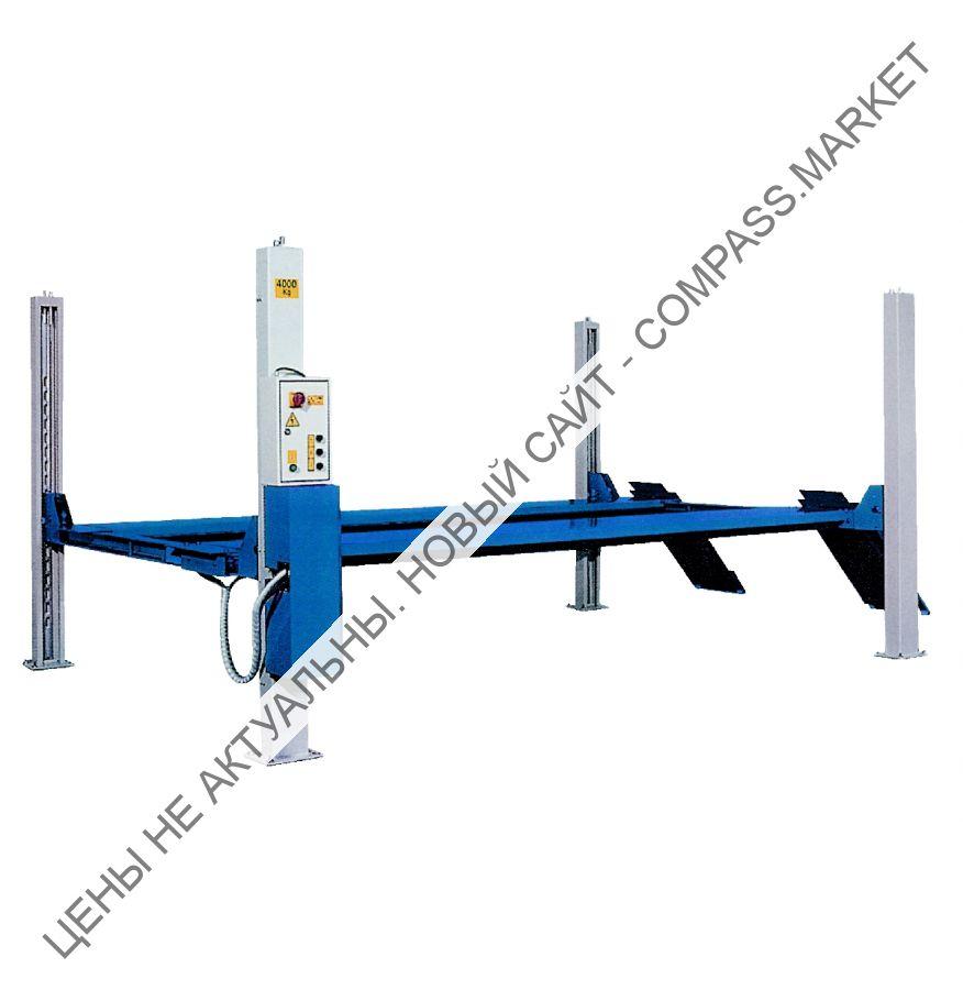 Подъемник четырехстоечный, г/п 4000 кг., платформы гладкие, Werther-OMA (Италия)
