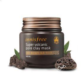 INNISFREE JEJU SUPER VOLCANIC PORE CLAY MASK 100ml - супер очищающая маска с вулканической глиной