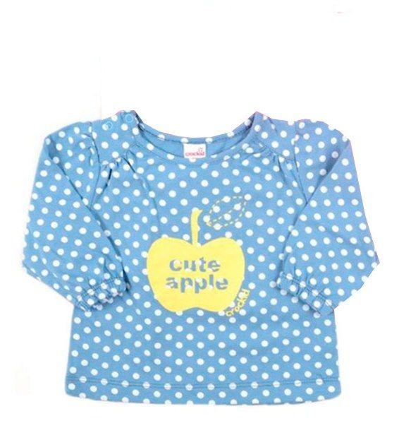 Блуза голубого цвета, для девочки Яблоко