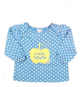 Блуза голубого цвета, для  девочки Яблоко СК3334н Крокид
