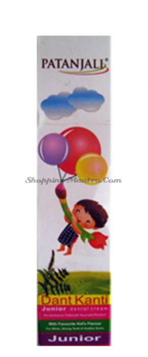 Детская зубная паста Дант Канти Юниор Патанджали Аюрведа | Divya Patanjali Dant Kanti Junior Dental Cream