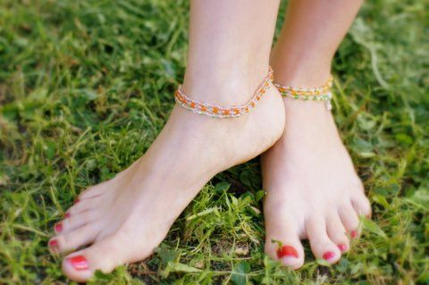 Браслеты на ногу из серебра (отправка из Индии)