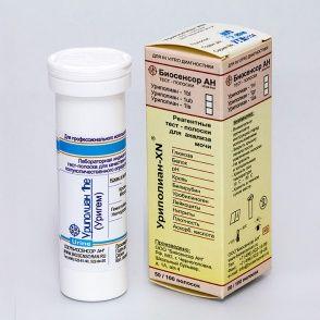 Уриполиан - 1he, (кровь в моче), Биосенсор АН, 100 полосок