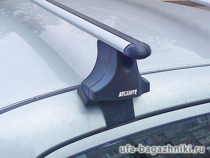 Багажник на крышу Nissan Primera P12 sedan, Атлант, аэродинамические дуги