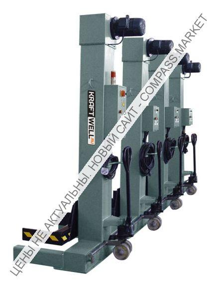 Колонны подкатные электромеханические, г/п 4х5500 кг, KraftWell (КНР)