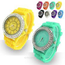 Женские часы с силиконовым ремешком Geneva
