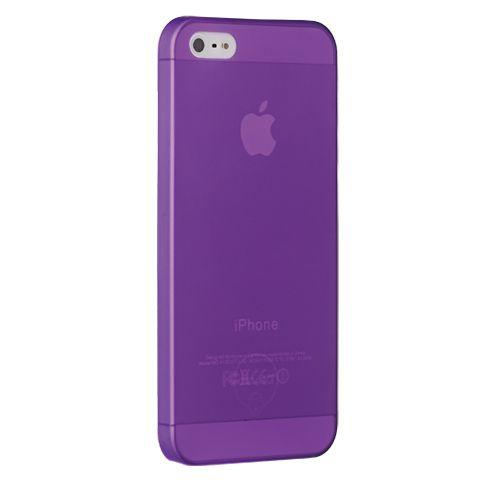 Ультра тонкий чехол 0.3мм для iphone 5с фиолетовый