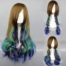 Парик коричневый, голубой и фиолетовый Лолита