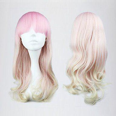 Парик белый с розовым Лолита