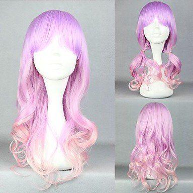 Парик фиолетовый с розовым