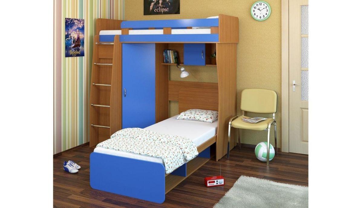 """Кровать-чердак """"Карлсон"""" М3 + кровать односпальная"""