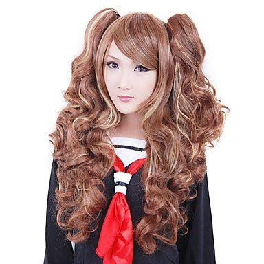 Вьющийся коричневый парик