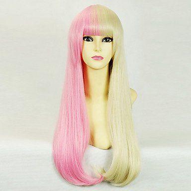 Розовый и блондин парик Лолита