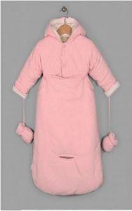 Розовый комплект верхней одежды для девочки в автомобиль