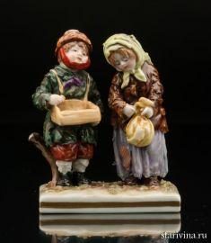 Двое нищих детишек, Volkstedt, Германия, кон.19 - нач.20 в