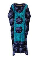 Длинный индийский кафтан (платье) на кулиске