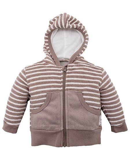 Куртка в коричнево-кремовую полоску