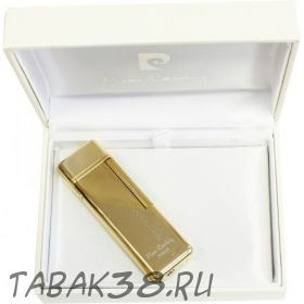 Зажигалка Pierre Cardin газовая кремниевая, золотой с насечкой