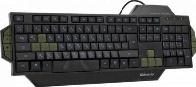 Проводная игровая клавиатура Warhead GK-1300L RU,черный,голубая подсветка