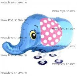 Шар-ходячка Слоник синий (71 см)