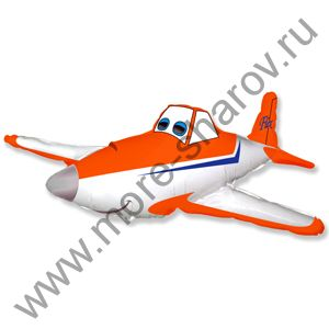 Шар гоночный самолет Оранжевый (81см)