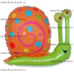 Шар фольгированный Улитка (зеленый) 81 см