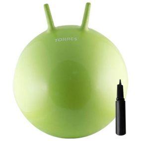Гимнастический мяч с рожками и насосом 65 см.