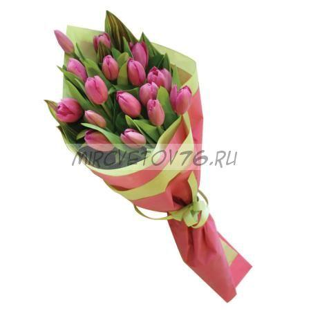 """Букет """"Розовая мечта"""" 17 тюльпанов"""