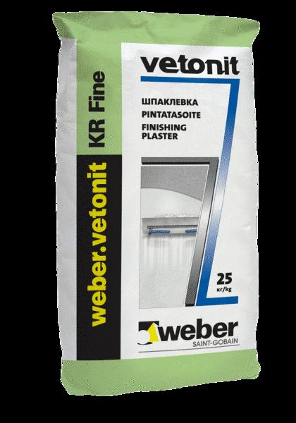Шпатлевка полимерная финишная Weber.vetonit KR, 20 кг