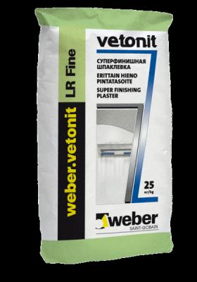 Weber Vetonit LR fine Суперфинишная шпатлевка (25 кг)