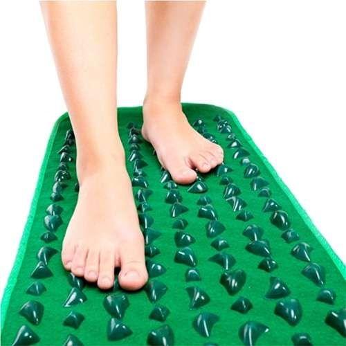 Дорожка массажная с зелеными камнями Massage Road